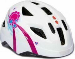 Helm Puky wit/roze