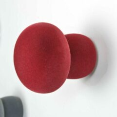 Bordeauxrode Kapstok - DROOG DESIGN - SOFTKNOB - Velvet Luna - Bordeaux Rood - 8 x 8,5 cm