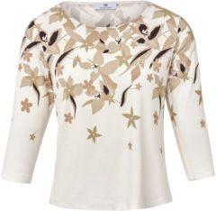Shirt met ronde hals Van Peter Hahn beige