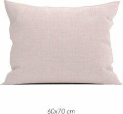 Linnenlook 2x Luxe Linenlook Kussenslopen Roze | 60x70 | Fijn Geweven | Zacht En Ademend