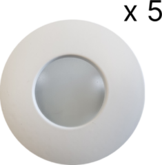 Witte Saniclass verlichtingsset LED 5 spots+arm SD-2012-05