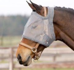 QHP Vliegen masker zonder oren grijs-maat-veulen