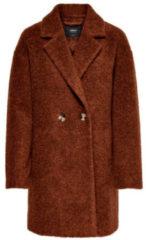 Bruine Lange jas Wollen