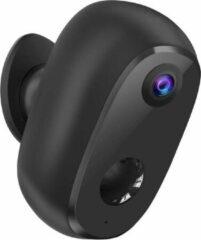 Smart Home Beveiliging Outdoor eye Draadloze IP beveiligingscamera op accu - zwart - Werkt op app - Wifi & nachtzicht - Voor buiten & binnen - weerbestendig - nu met GRATIS SD kaart & anti-diefstal beugel