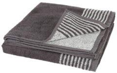 Superflausch Duschtuch, grau, 70 x 140 cm, 2er Set