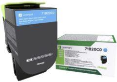 Lexmark Recycling toner CS317 CS417 CS517 CX317 CX417 CX517 71B20C0 Origineel Cyaan 2300 bladzijden