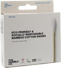 Zilveren Humble Brush Bamboe wattenstaafjes - Wit Wit