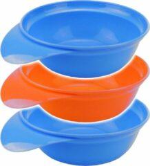 Tom Kommen 310 Ml Polypropyleen Blauw/oranje 3 Stuks