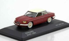 Bordeauxrode White box Panhard 24 BT 1964 (Dark Red) 1-43 Whitebox Limited 1000 Pieces