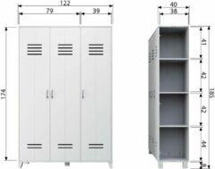 Witte VT Wonen Opberggigant Vt locker 3-deurs wit