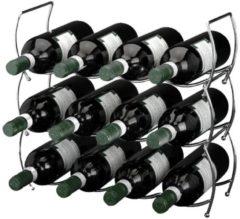 Zilveren Excellent Houseware Stapelbaar wijnrek (3 delig)