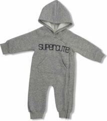 Supercute jumpsuit gemêleerd grijs kruippak maat 80