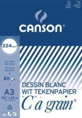 Witte Canson Tekenblok C à grain 224 g/m² formaat 297 x 42 cm (A3)