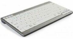 BakkerElkhuizen UltraBoard 950 Wireless toetsenbord RF Draadloos ĄŽERTY Belgisch Grijs, Wit