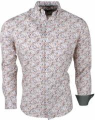 Bruine Montazinni Jan paulsen heren design overhemd regular fit