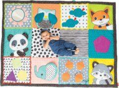 Rode Infantino groot speelkleed baby / speeltapijt / speelmat - met olifant - met opbergtas Multicolour