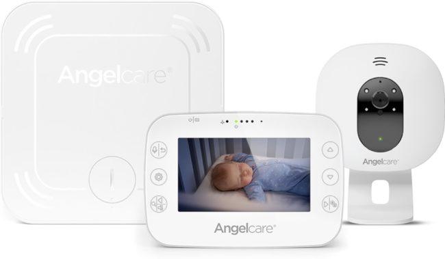 Afbeelding van Witte Angelcare AC327 - Babyphone Video mit Bewegungsmelder, Anzeige der Temperatur 4,5 Zoll - Infrarot-Nachtsicht - Weiß