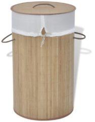 Bruine VidaXL Wasmand rond bamboe natuurlijk