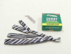 Guardian Beauty Barbermes - Shavette - Klassieke scheermes - Zebra + 100 Derby Professional scheermesjes