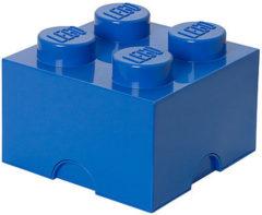 Blauwe Lego Storage Brick 4 - 25 cm x 25 cm x 18 cm - Blauw