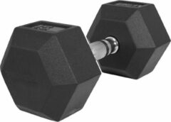 Zwarte Gorilla Sports Dumbell 15 kg (1 x 15 kg) Hexagon Rubber