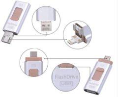 Zilveren Parya- Flashdrive- 128 GB- 4 in 1- USB