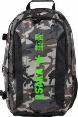 Groene Osaka Large Backpack - Tassen - Camo
