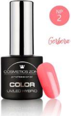 Oranje Cosmetics Zone UV/LED Hybrid Gel Nagellak 7ml. Gerbera NP2