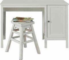 Hioshop Ory kinder bureau met 1 deur en 1 plank, wit.