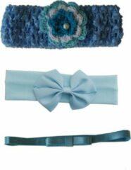Jessidress Setje Baby Haarband Haarblumen Hoofdband Bandeau Haar Strikjes Baby Blauw