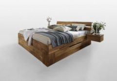 La Natura Bett Doppelbett Wildeiche 200 x 200 cm
