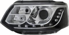 Set koplampen passend voor incl. DRL Volkswagen Transporter T5 Facelift 2010-2015 - Zwart - incl. Mo
