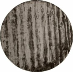 Antraciet-grijze BePureHome Ravel Vloerkleed - Antraciet - 1x250x250