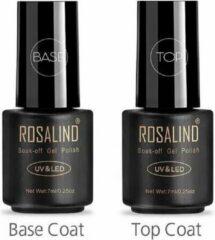 Transparante Rosalind - Base & Top coat nagellak set - Gel nagellak - UV gellak set - Topcoat - Basecoat