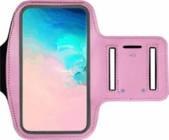 ADEL Sportarmband 5.5 Inch Microfiber Hoesje voor Wiko View 3 Pro - Roze