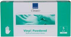 Witte Abena - Vinyl Handschoenen - Wit - Gepoederd - Maat S - 100 Stuks