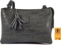 Tas - tasssen - bags - Bag- Bicky Bernard- Harmonica 3-Vaks tasje - schoudertasje - crossbody tasje - Zwart - Black