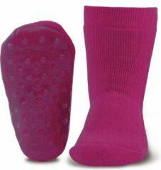 Ewers Antislip sokken effen donker fuchsia/paars-31/34