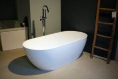 Witte Blinq vrijstaand bad Solid Surface (composiet) 170x80cm