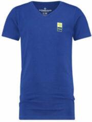 Blauwe Vingino Basic Kinder Jongens T-shirt - Maat 10