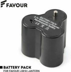 Oplaadbare vervangende batterij voor Favour L0818 Retro LED Lantaarn - Oplaadbaar via Micro-USB - Lithium 3,7V 4000 mAh - batterijduur tot 128 uur - batterij zonder lamp