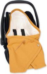 Goudkleurige BEMINI Wikkeldeken BISIDE® 0-12m Oker Golden Tetra jersey