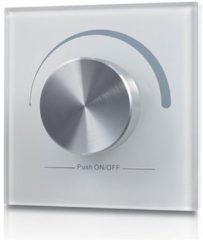 Grijze Groenovatie LED RF Enkelkleurige Dimmer Wand - Draadloos - Wit - Pro