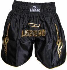 Zwarte Legend Sports Logo (kick)boksshort Goud Maat Xl