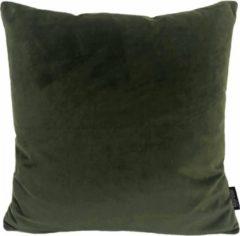 Donkergroene Gek op Kussens! Velvet Army groen Kussenhoes | Fluweel - Polyester | 45 x 45 cm | Legergroen