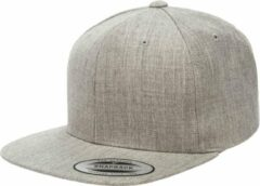 Licht-grijze Yupoong The classic snapback - Heather Grey