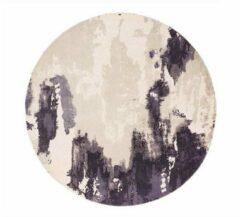 Eazy Living Easy Living - Saturn-Rug-Heather-Circle Vloerkleed - 200 cm rond - Rond - Laagpolig, Rond Tapijt - Modern - Meerkleurig, Paars