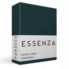 Groene Essenza - Katoen-satijn Hoeslaken - Tweepersoons - 140x200 cm - Pine Green