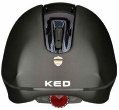 Tara L black matt carbon glossy KED cap met hoofdomtrek: 57-63 cm