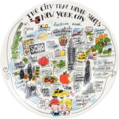 Witte Blond Amsterdam ontbijtbord City New York (Ã22 cm)